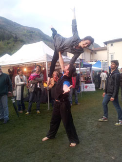 AcroYoga high fly
